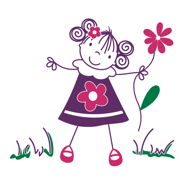 Vinilos decorativos infantiles ni a con flores for Vinilos infantiles para ninas
