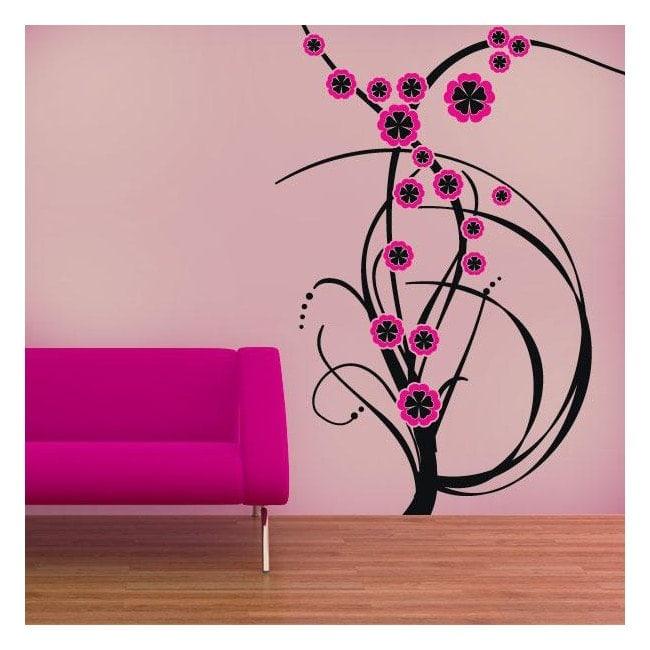 Vinilos decorativos flores de color - Vinilos de color ...