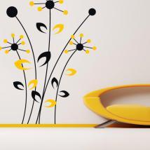 Vinilos Decorativos Paredes Flores Bicolor