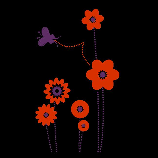 Flores y mariposas para decorar paredes infantiles imagui - Mariposas para pared ...