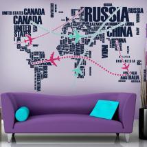 Vinilo Decorativo Rutas del Mundo
