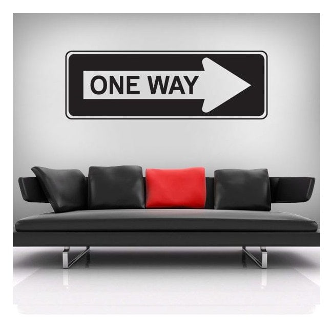 Vinilo Decorativo One Way New York