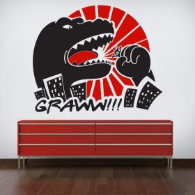 Vinilo Decorativo Pared Godzilla