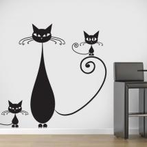 Vinilos Decorativos Familia de Gatos
