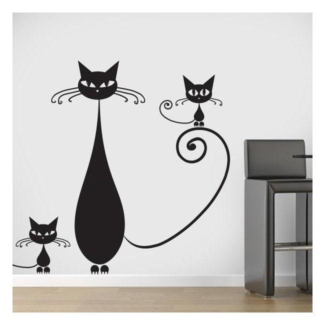 Vinilos decorativos familia de gatos - Vinilos decorativos gatos ...