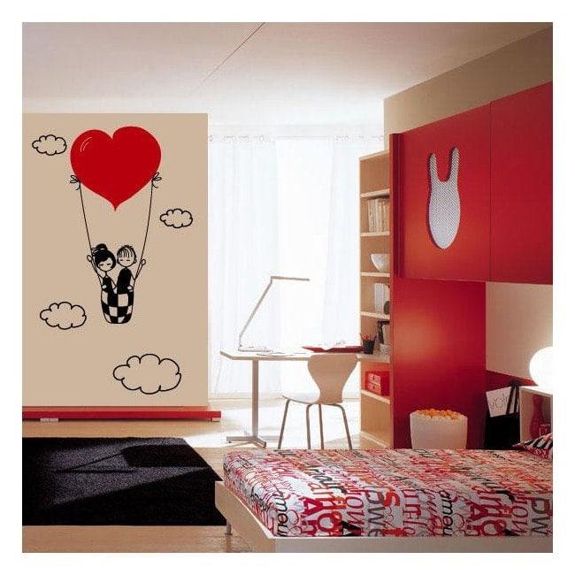 Vinilos decorativos amor en las nubes - Vinilos de amor ...
