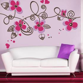 Vinilos decorativos flores de coraz n for Tipos de arboles decorativos