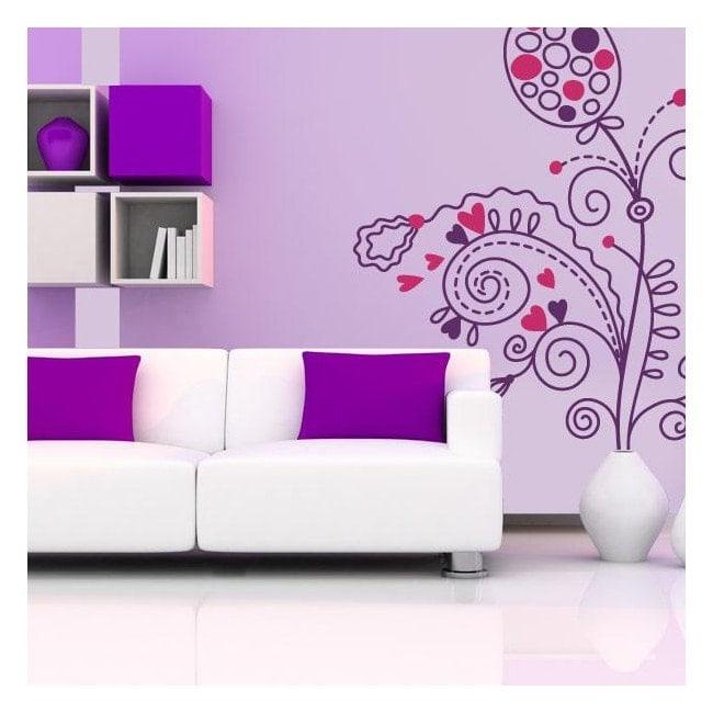 Vinilos Flores Romanticismo Floral