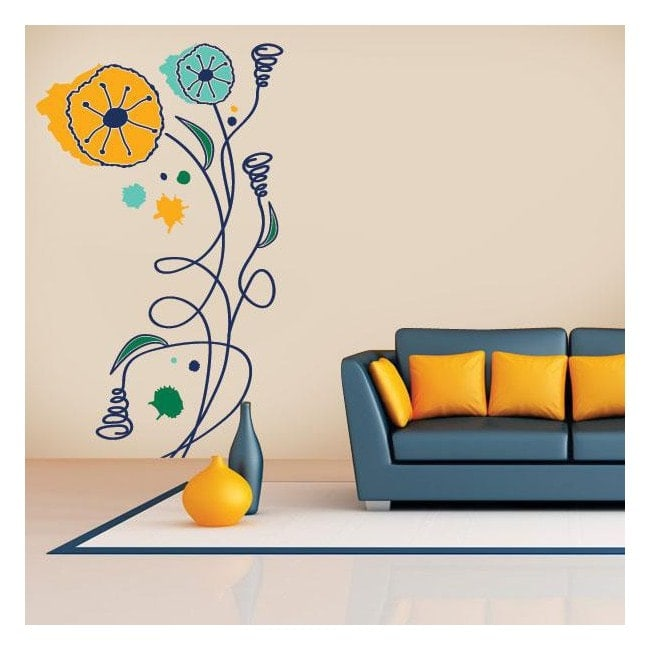 Vinilos Flores Naturaleza a Color