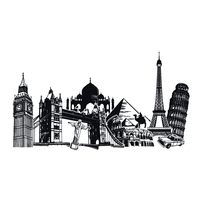 Vinilos ciudades y monumentos del mundo for Vinilos pared ciudades