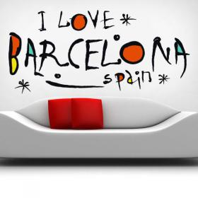 Vinilos I Love Barcelona Spain
