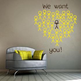 Vinilos Frases Inglés We Want You