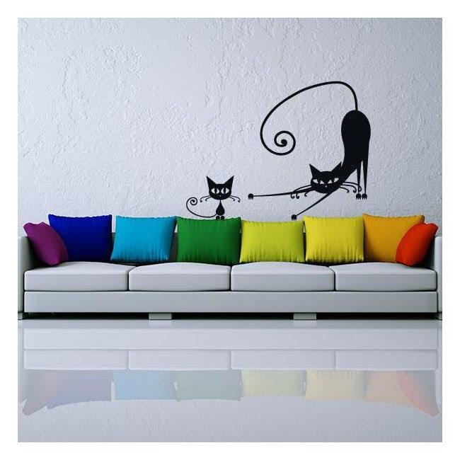 Vinilos pegatinas gatos paredes for Vinilos grandes baratos