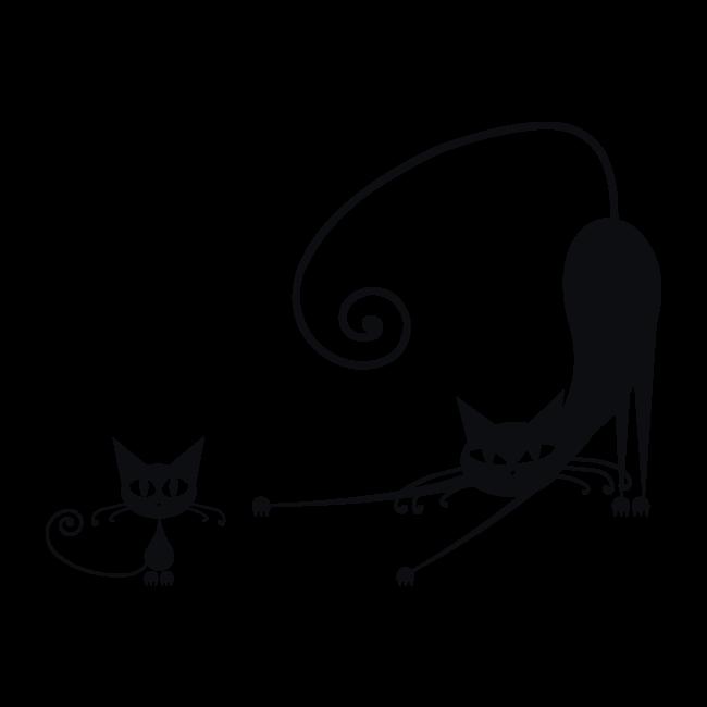 Vinilos pegatinas gatos paredes - Vinilos decorativos gatos ...