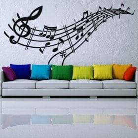Vinilos Musicales Pentagrama y Notas