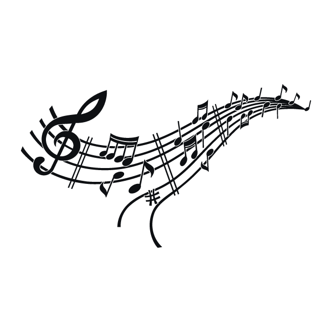 Vinilos musicales pentagrama y notas for Vinilos decorativos con notas musicales