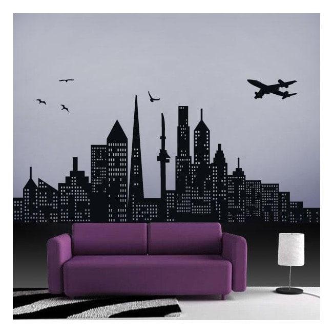 vinilo decorativo ciudad On vinilos pared ciudades