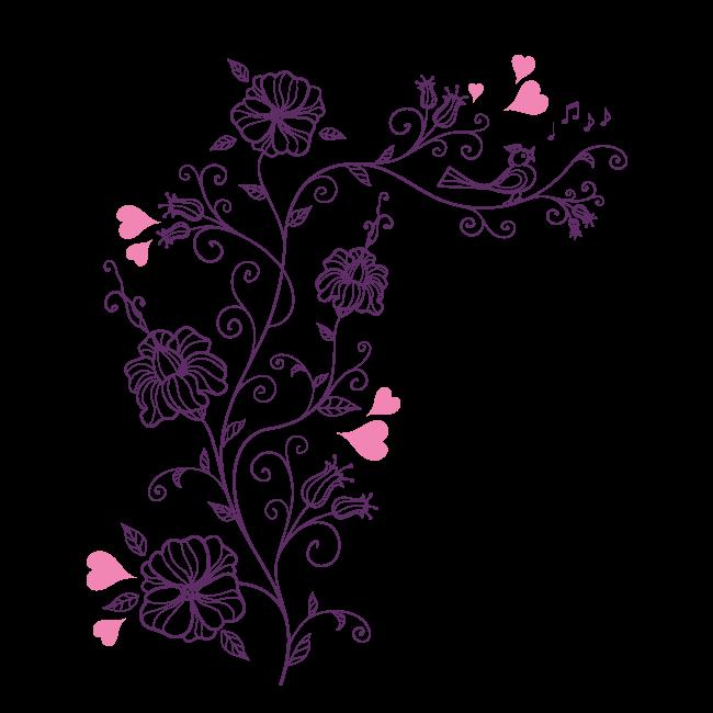 Vinilos y Pegatinas Flores Románticas