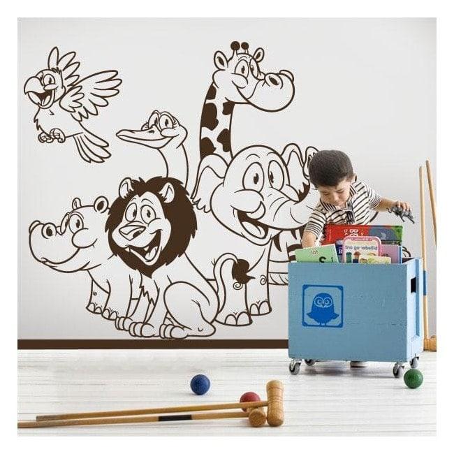 Vinilos infantiles animales zoo for Vinilos infantiles animales