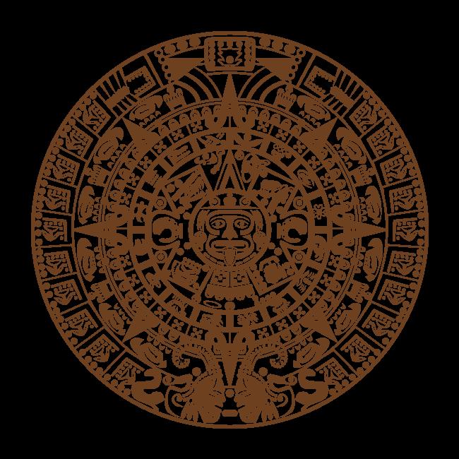 Calendario Azteca.Vinilos Decorativos Piedra Del Sol Calendario Azteca