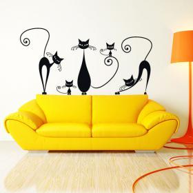 Pegatinas y adhesivos gatos paredes for Pegatinas para decorar habitaciones