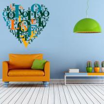 Vinilos Decorativos Textos Corazón Love