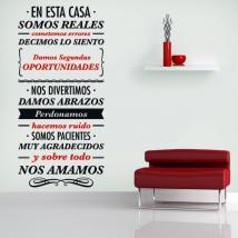 Vinilos Decorativos Frases En Esta Casa Spanish 810