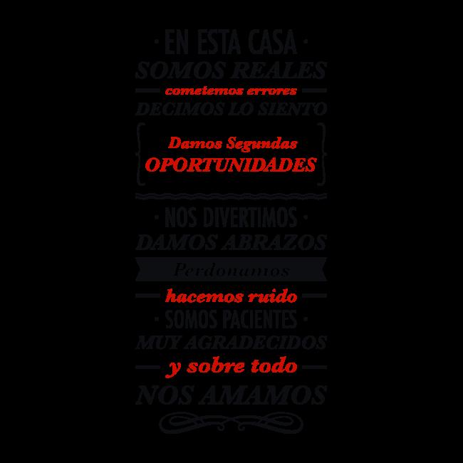 Vinilos decorativos frases en esta casa spanish 810 - Vinilos decorativos frases ...