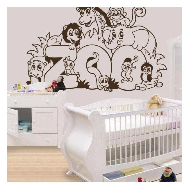vinilos decorativos infantiles animales zoo