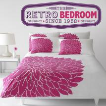 Vinilos Decorativos y Pegatinas Retro Bedroom