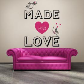 Vinilos Decorativos Románticos Texto Made With Love