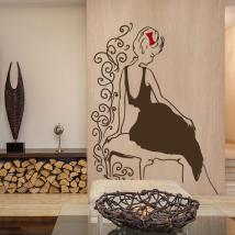 Vinilos Decorativos Silueta Mujer Glamour