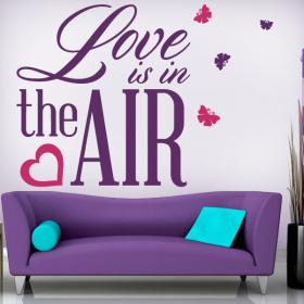 Vinilos Decorativos Frases Love Is In The Air