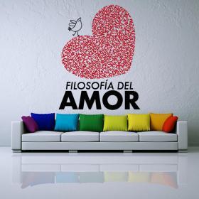 Vinilos Decorativos Frases Filosofía del Amor