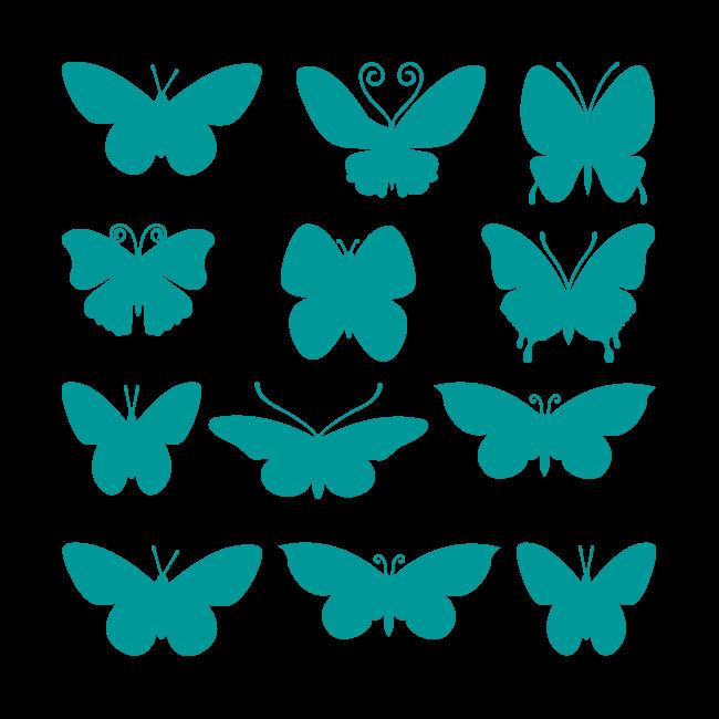 Vinilos decorativos adhesivos y pegatinas mariposas - Dibujos en paredes infantiles ...