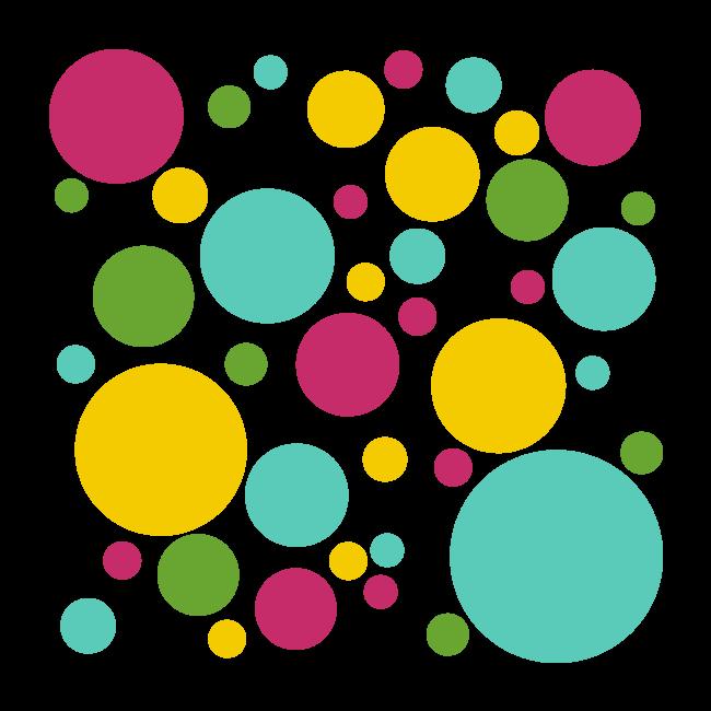 Vinilos decorativos adhesivos c rculos de colores for Adhesivos de vinilo decorativos