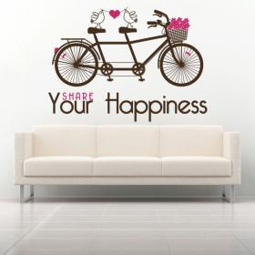 Vinilo Decorativo Frase Share Your Happiness