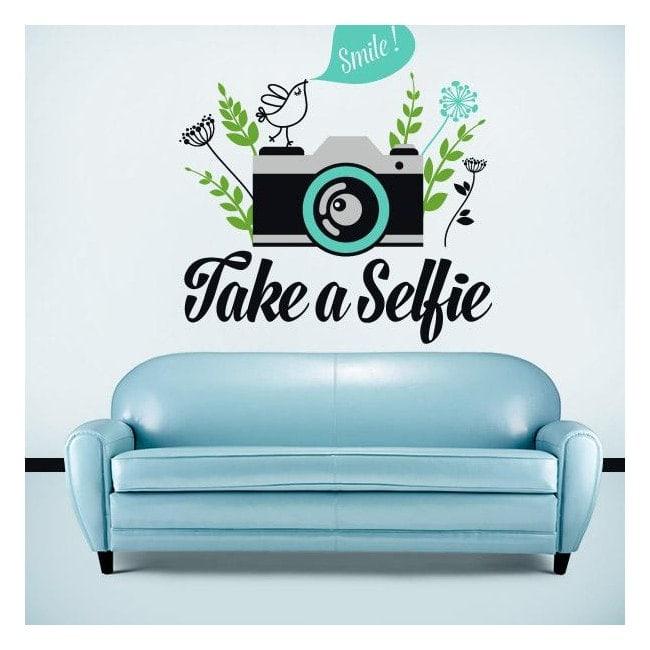 Vinilos decorativos stickers take a selfie for Stickers vinilos decorativos