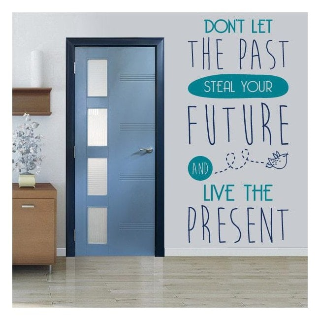 Vinilos Decorativos Frases Inglés Live The Present