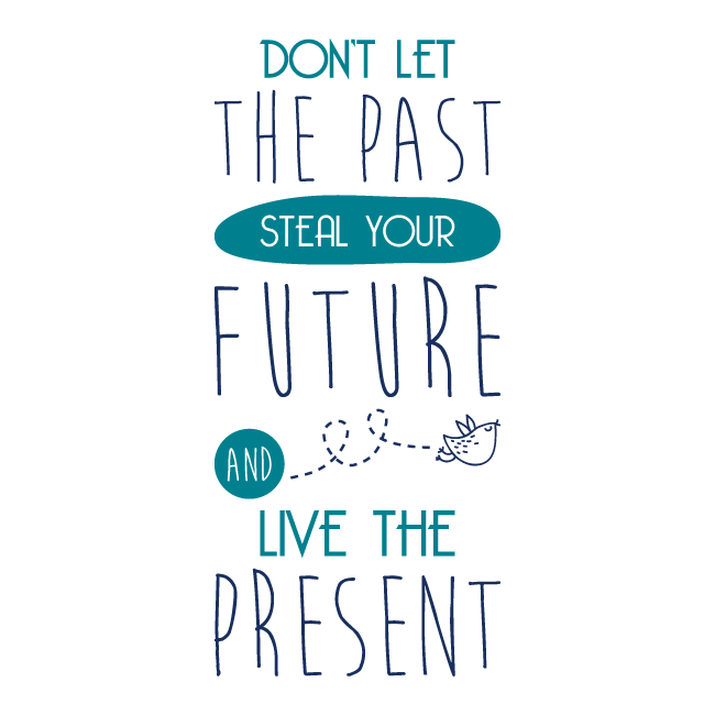 Vinilos decorativos frases ingl s live the present for Frases en vinilo para pared
