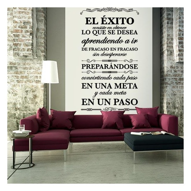 Vinilos decorativos citas y frases el xito - Vinilos decorativos frases ...