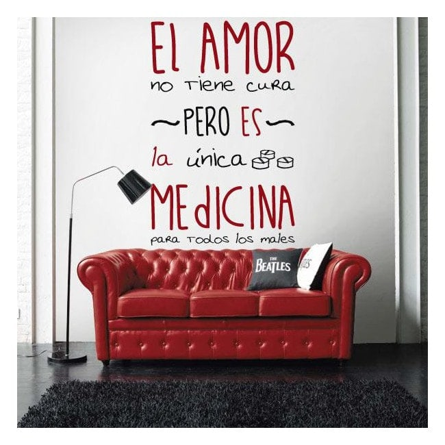 Vinilo Decorativo Adhesivo Medicina de Amor