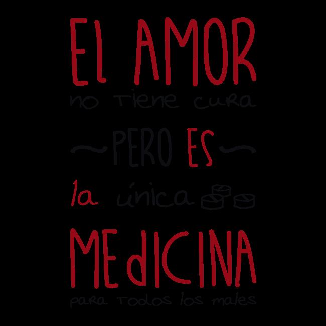 Vinilo decorativo adhesivo medicina de amor - Vinilos de amor ...