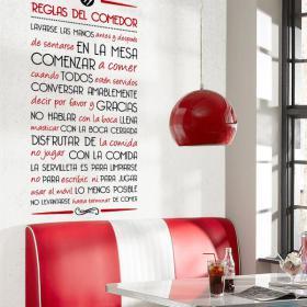 Vinilos Decorativos Reglas del Comedor