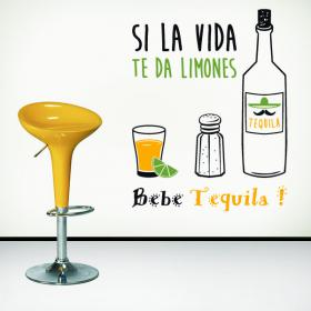 Pegatinas paredes si la vida te da limones vinilos for Vinilos para bares