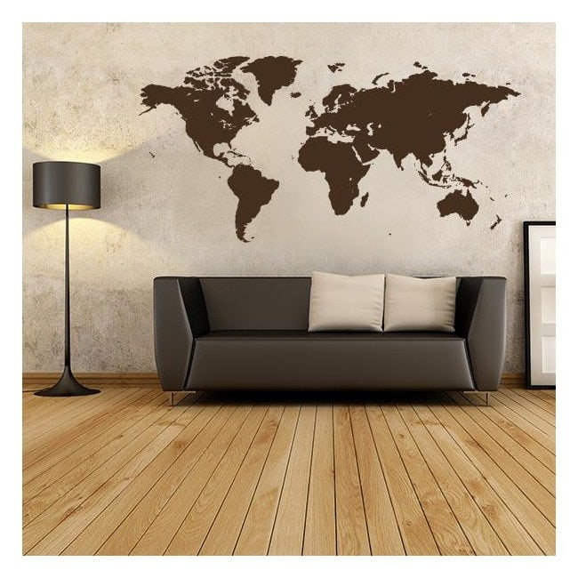Vinilo decorativo adhesivo y pegatina mapamundi - Vinilos mapa mundi ...