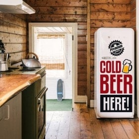 Vinilos Decorativos Stickers Cold Beer Here