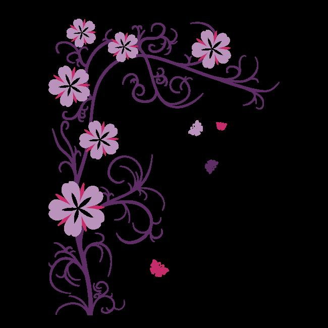 Vinilos decorativos y stickers flores for Stickers vinilos decorativos