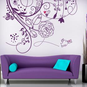 Vinilos pared flores de amor vinilos decorativos www - Vinilos de amor ...