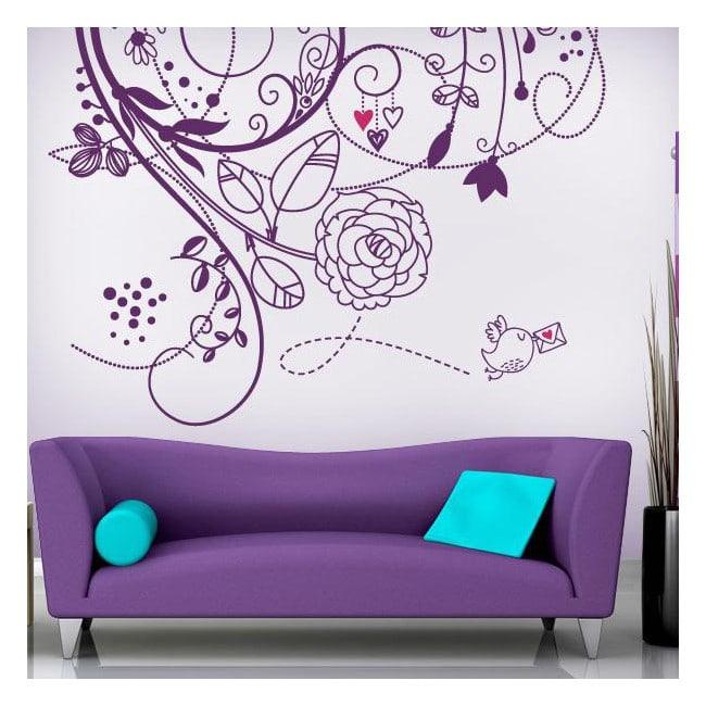 Vinilos pared flores de amor - Vinilos personalizados pared ...